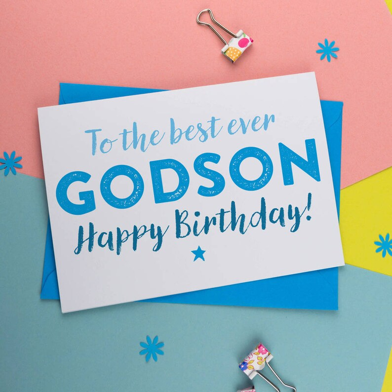 Best Godson Ever Birthday Card For