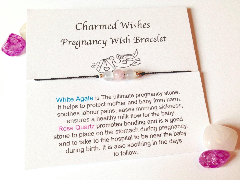 Pregnancy Wish Bracelet Mum To Be Gift Pregnancy Etsy