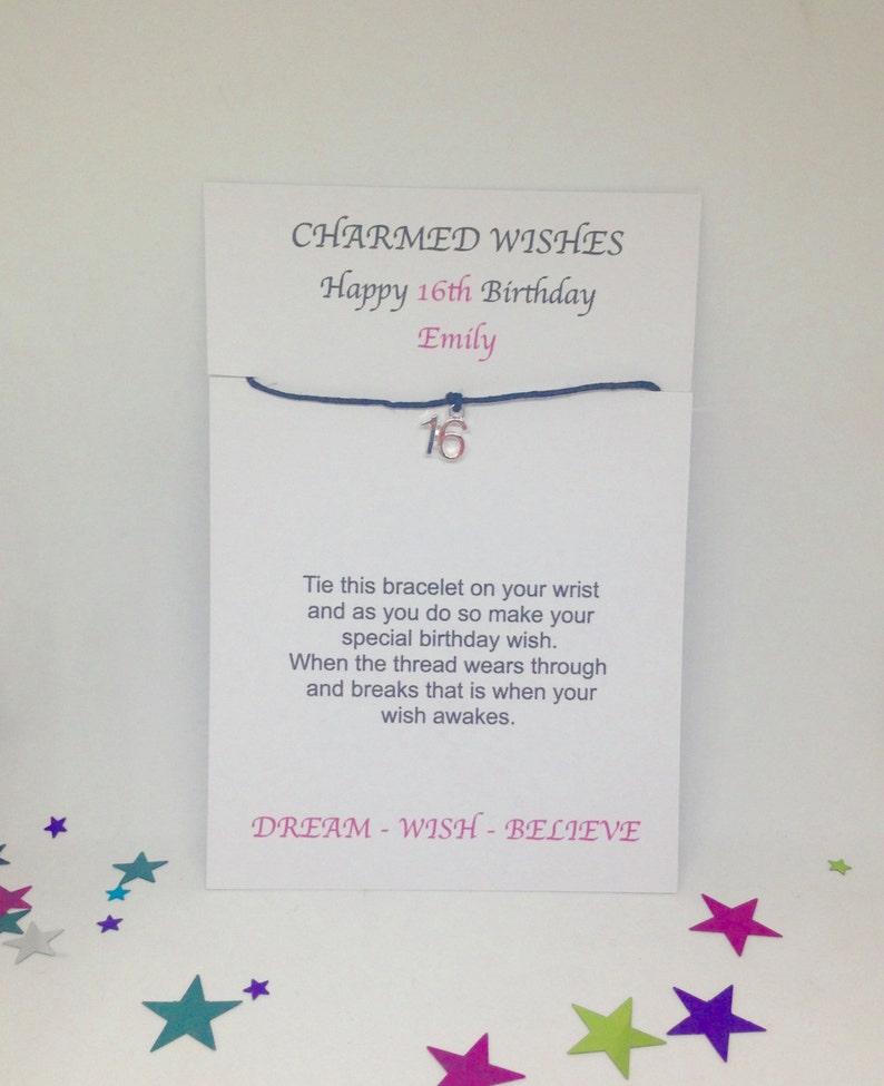 Gift For 16th Birthday Wish Bracelet Sweet 16