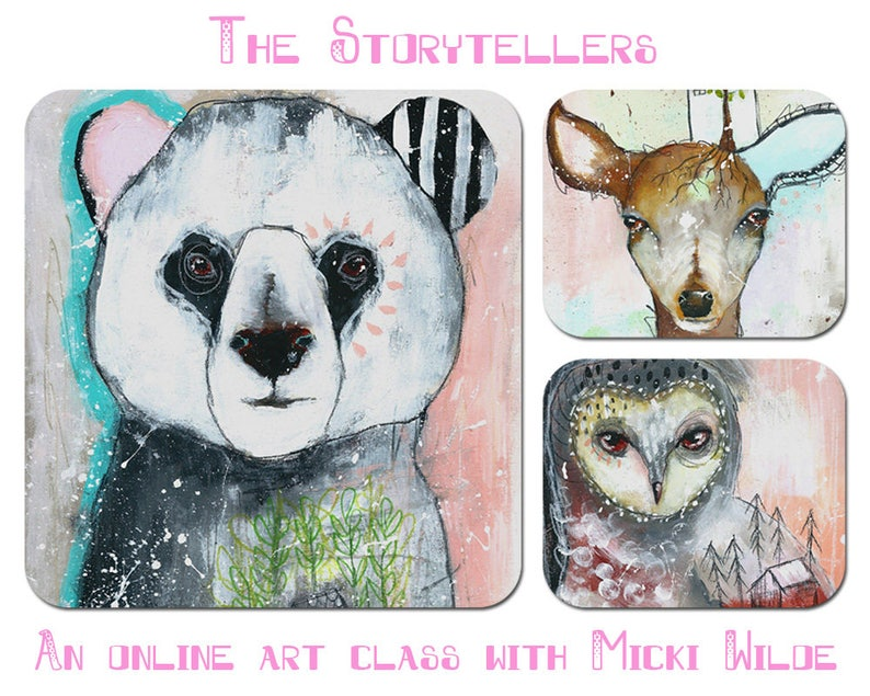 The Storytellers  A self paced online art workshop with Micki image 0