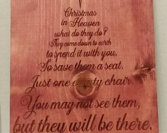 Christmas chair poem, Christmas chair saying, Christmas Angel poem, Christmas loved ones sign, Christmas decor, Empty chair, Empty chair