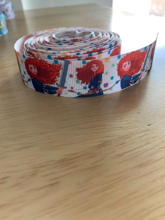 "USA Seller Brave Princess inspired 1/"" Grosgrain Ribbon By The Yard"