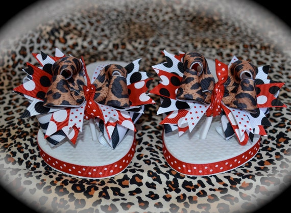 e76993edd48e5 Custom Boutique Girls Ribbon Bows Safari m2m Minnie Mouse