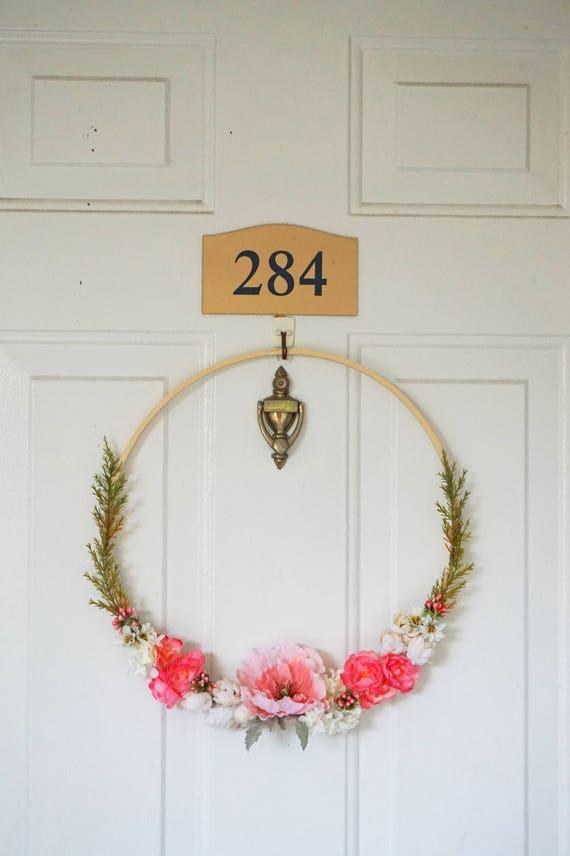 Romantic Door Wreath Modern Wreath Summer Door Wreath | Etsy