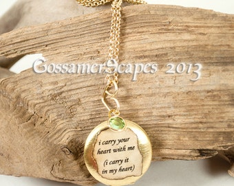 I carry your heart locket e e cummings