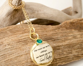 Soul sister locket - sister jewelry - maid of honor bridesmaid jewelry gift