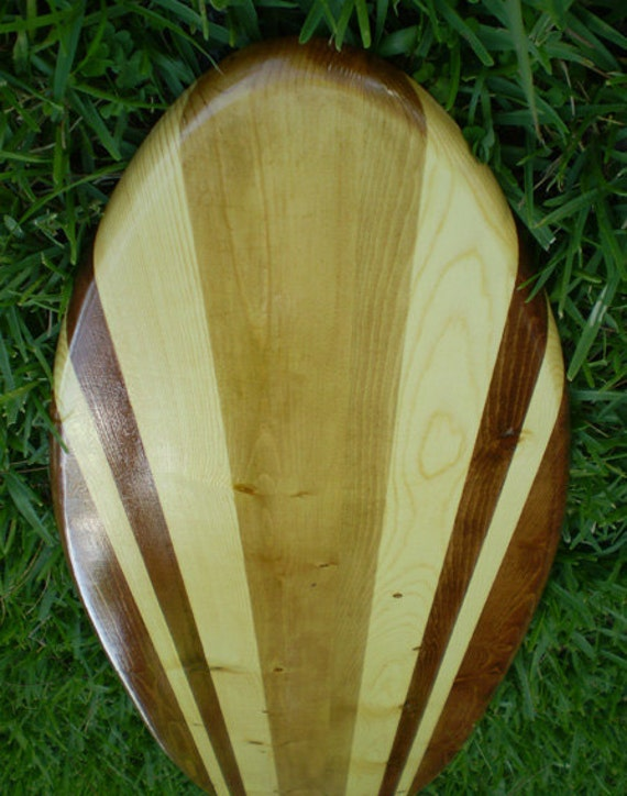 Original Two Tone Classic Vintage Surfboard Art Wood Beach