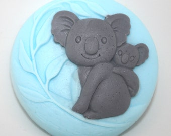 Koala Parent and Baby - new parent, adoption, birthday, baby shower, mother and child, father and child, party favor, Australia, new baby