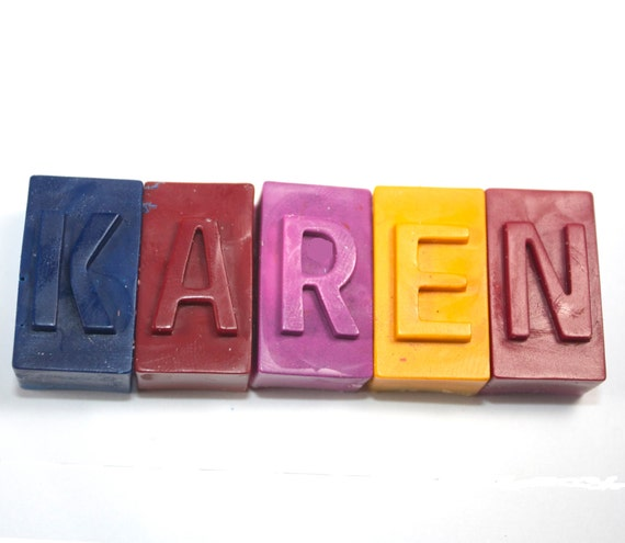 Fourniture d'école de bloc crayons de couleur - lot de 5 - lettre, retour à l'école, nom, personnalisées de crayons de couleur, crayons de lettre, cotillons