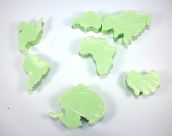 Have the Whole World in Your Tub - 7 Continent Soaps, globe, world, montissori, teaching, travel