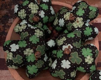 Primitive St. Patrick's Day Shamrock Ornies-Bowl Fillers- Set of 3 FAAP