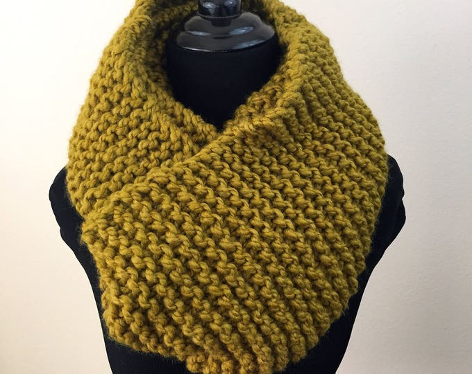 Infinity Scarf in Mustard Yellow