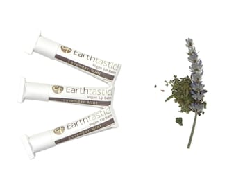 Herbal Lip Balm - Lavender Mint. Natural. Eco Friendly. Paper tube.