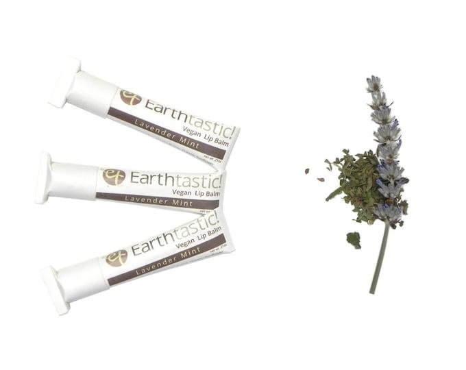 Herbal Lip Balm - Lavender Mint. Natural. Eco Friendly. Paper tube.