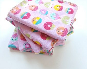 Unpaper Towels. Set of Five. Reusable dish cloths.