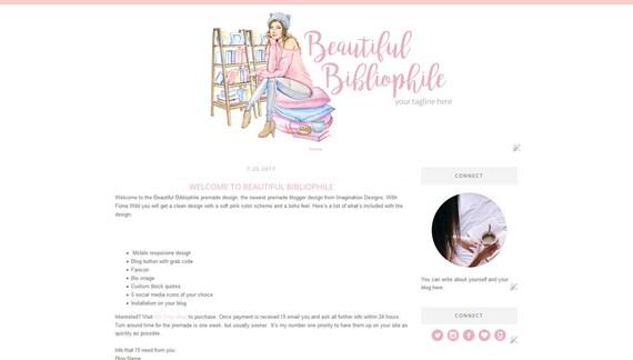 Blogger-Template einfache und saubere Blog-Design Vorlage