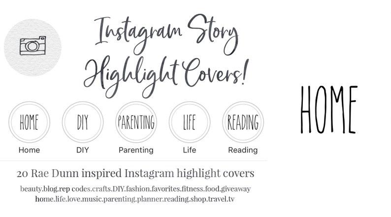 Instagram Story Highlight Cover - Set of 20 - Rae Dunn Inspired -  Simplistic - Farmhouse - Bloggers