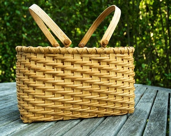 Lunch Basket Traditional Shaker Nina Webb Basket Oak Swing Handels