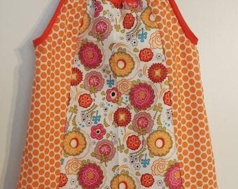 Orange floral sundress