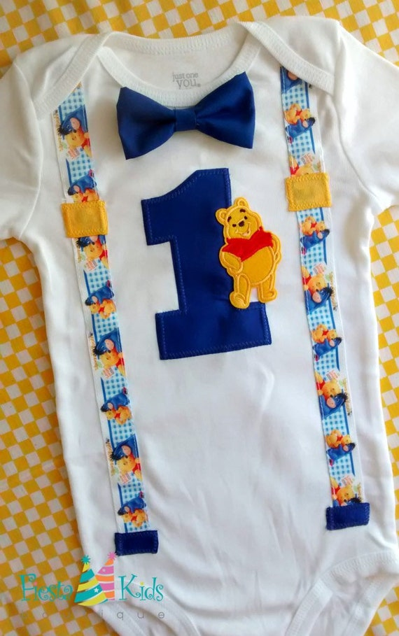 First Birthday Outfit Boy WiNNiE THE PoOH Baby Theme Party 1st Cake Smash