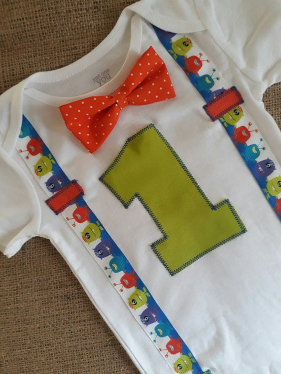Little Monster Birthday Baby 1st First Party Boy 1 2nd Shirt