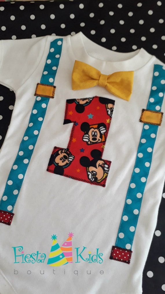 Mickey Mouse Birthday 1st Party Boy First Cake Smash Outfit