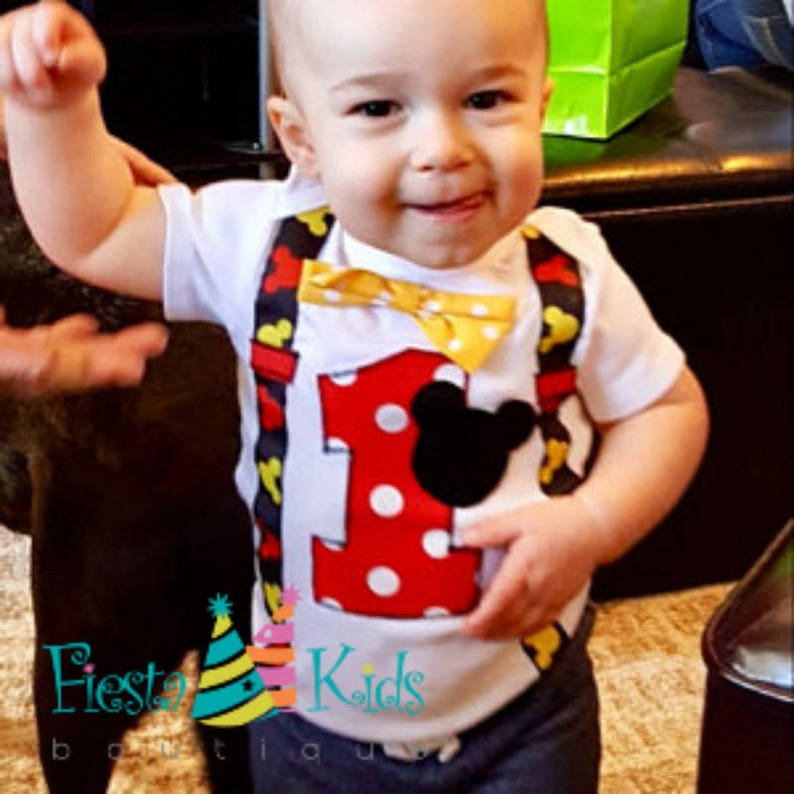 31ef042a5126b MiCKEY MoUSE 1st birthday outfit boy first birthday party