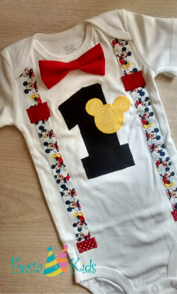 MiCKEY MoUSE Birthday Boy First Party 1st Shirt
