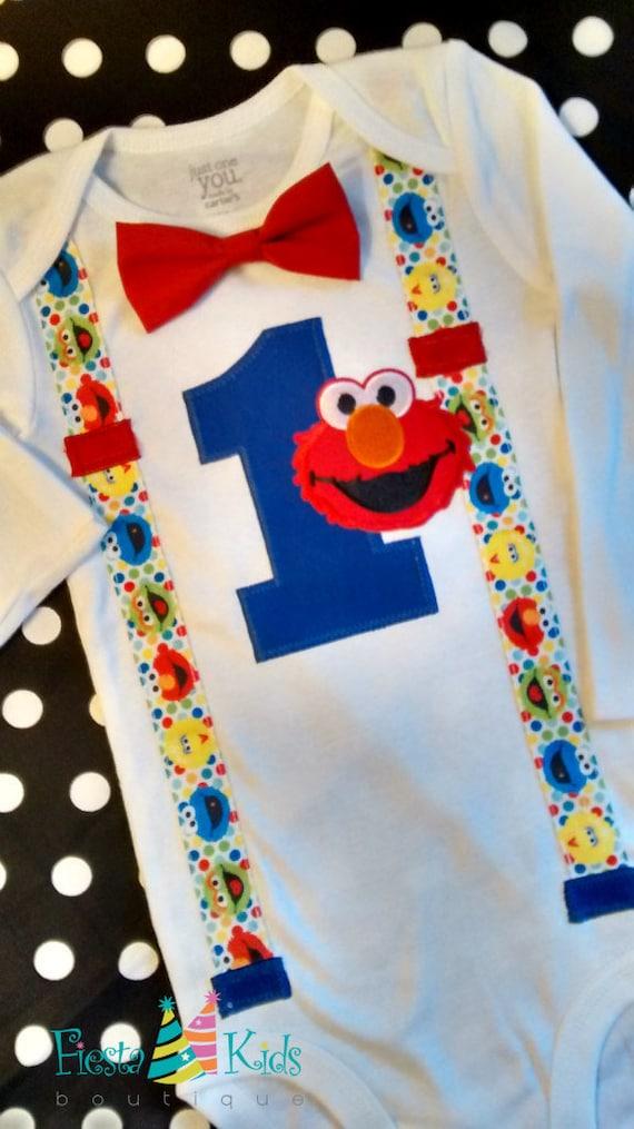 Elmo Birthday Party Sesame Street Birthday Cake Smash Boy First