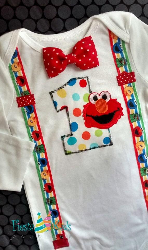 ELMO Birthday Baby Boy Smash Cake Sesame Street 1st