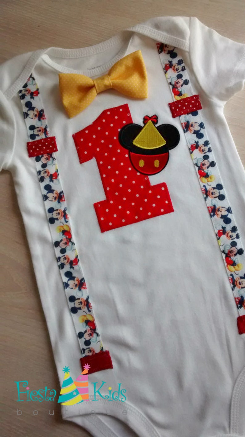 MiCKEY MoUSE Birthday Boys First Cake Smash Outfit