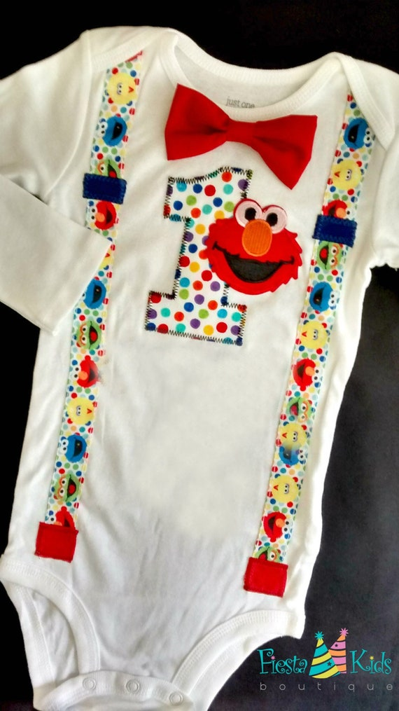 ELmO Baby Boy Party Sesame Street Birthday First Outfit Smash Cake
