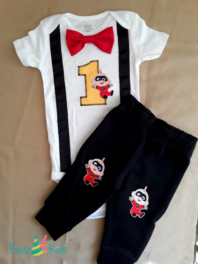 Incredibles baby boy first birthday outfit