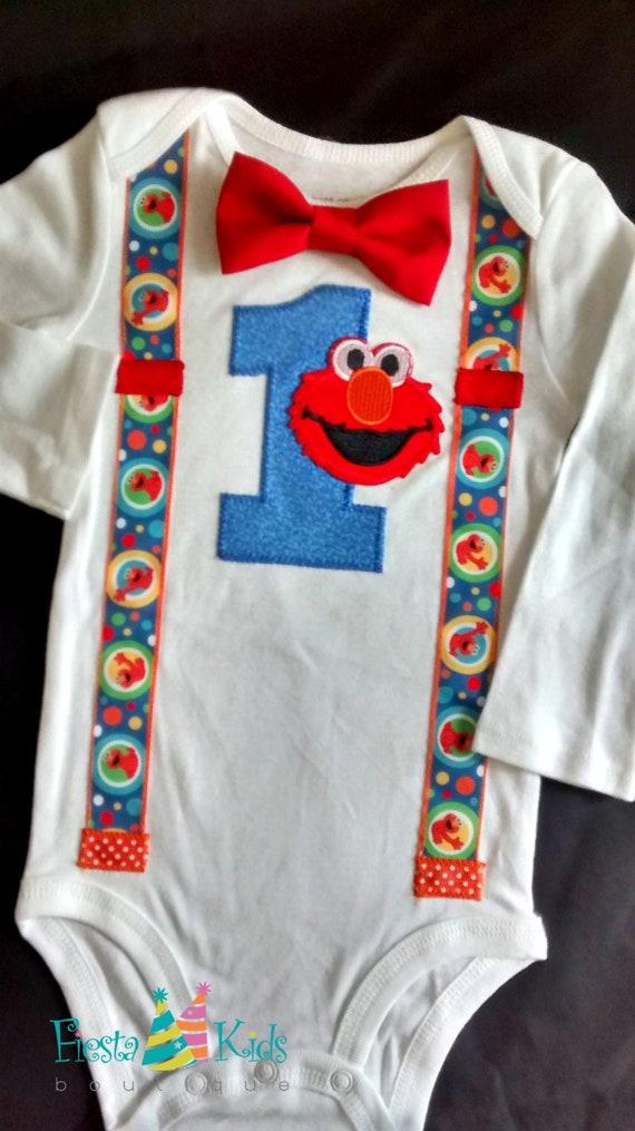 d026d68168fe ELmo 1st birthday outfit
