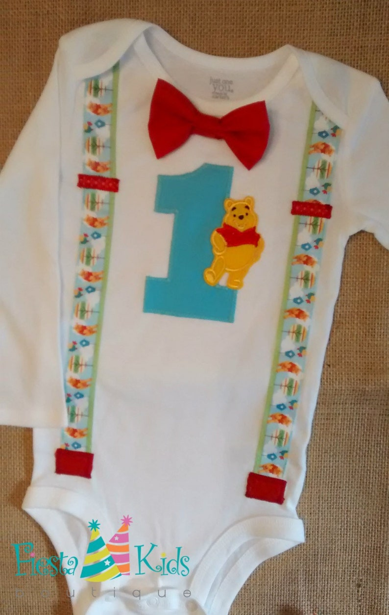 Winnie The Pooh 1st Birthday Outfit Boy First Theme Party