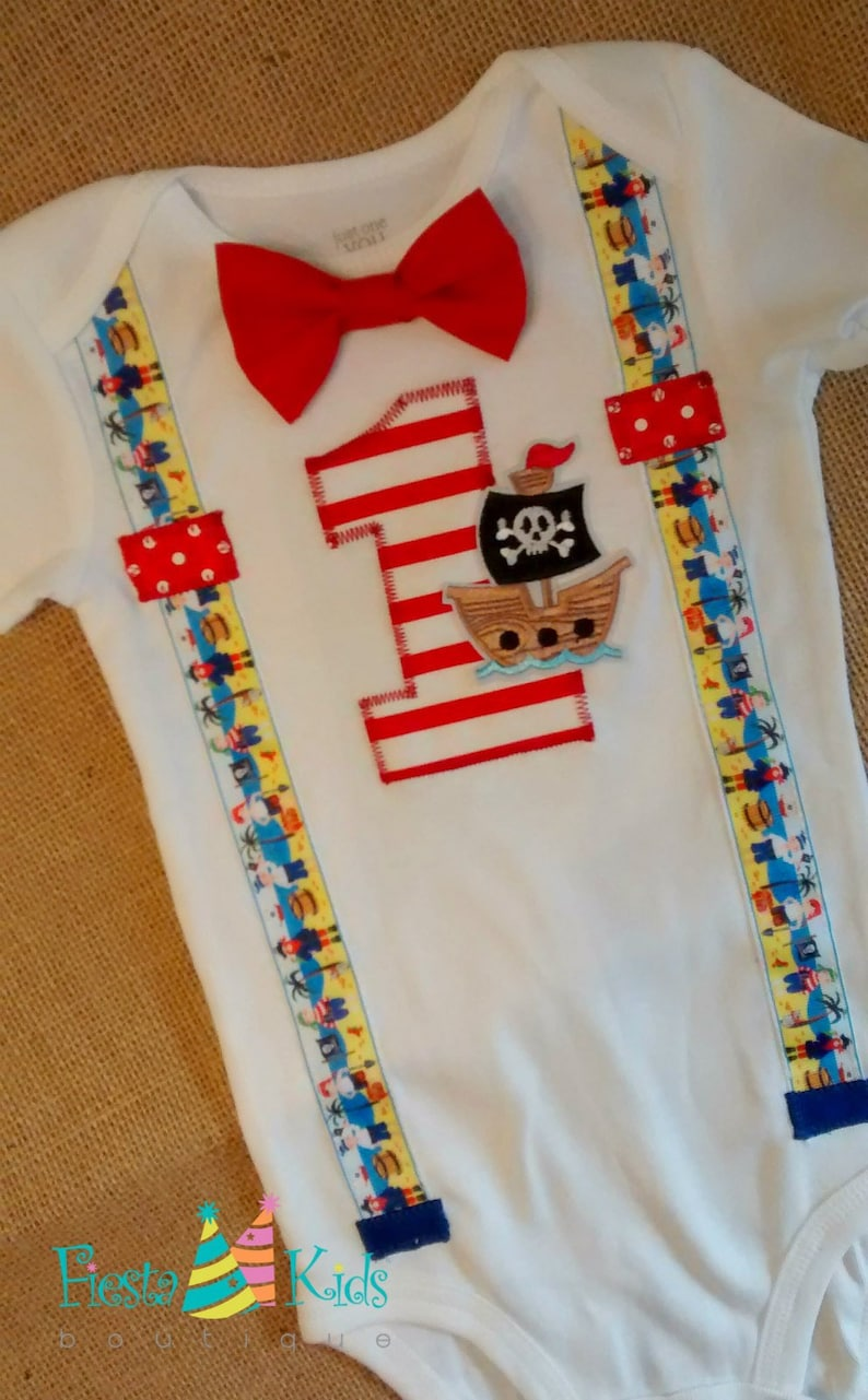 PiRATE Birthday 1st Outfit Boy Baby Cake Smash