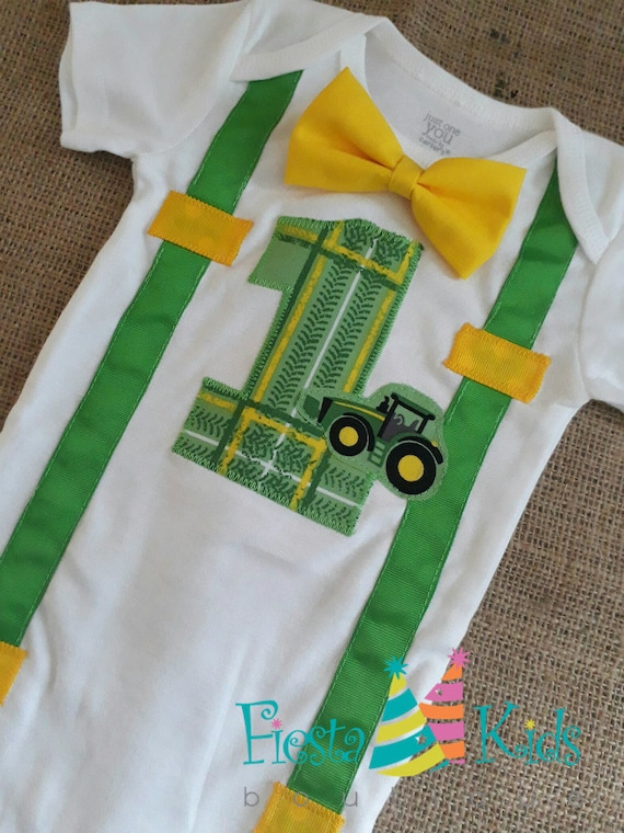 John Deere GREeN TRACToR Birthday Farm Theme Party 1st