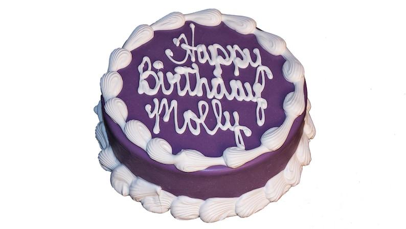 Brilliant 6 Barkery Round Dog Birthday Cake Etsy Funny Birthday Cards Online Unhofree Goldxyz
