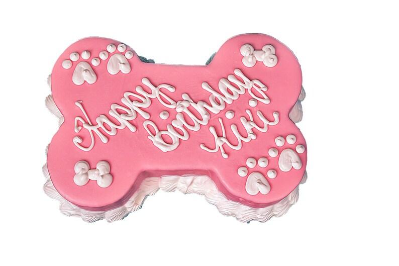 Barkery Dog Bone Birthday Cake