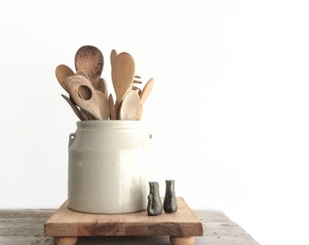 Vintage Farmhouse Stoneware Crock, Primitive Bowl, Ceramic, Bean Pot