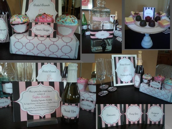 image regarding Printable Wine Glass Tags named Bridal Shower PRINTABLES Paris Themed - Quick Down load Do it yourself