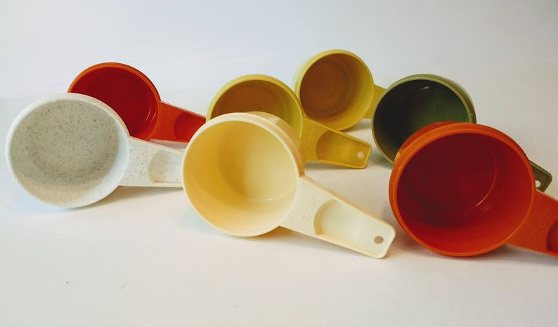 1980s Tupperware  Kitchen Gadgets  Kitchen Utensils Vintage Tupperware Replacement 12 Cup Measuring Cups  All Colors  1970s