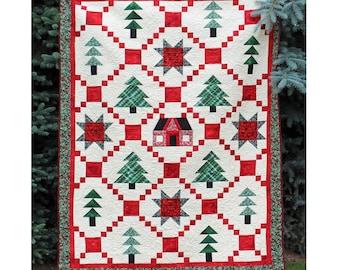 Christmas Cottage  Digital Quilt Pattern