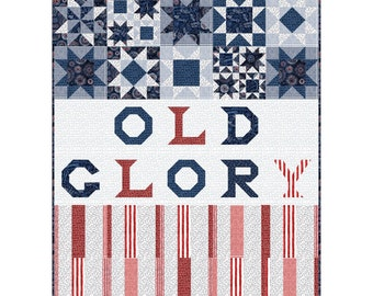 Old Glory Quilt Kit Featuring All American designed by Pine Tree Country Quilts for Quilting Treasures Size 42 x 50 inches QT-KIT-3874A