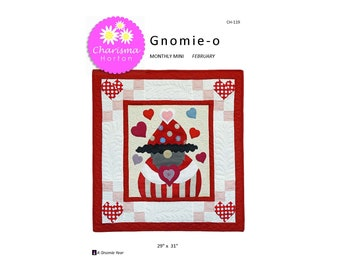 A Gnomie Year, February, Gnomie-o PDF pattern