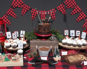 Little Lumberjack NON-customized Printable Party Set - INSTANT DOWNLOAD
