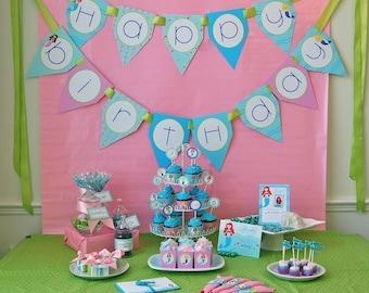 Little Mermaids Birthday Printable Party Pack - DIY - SALE!!