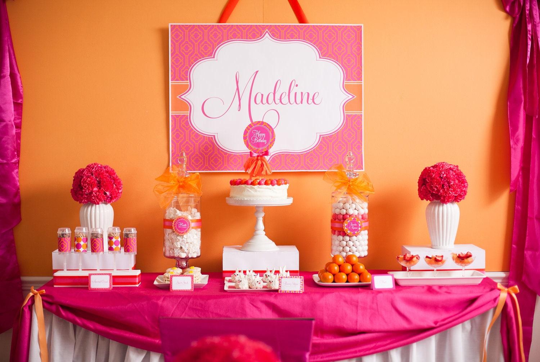Pancake And Pajama Pink And Orange Printable Party As Seen Etsy