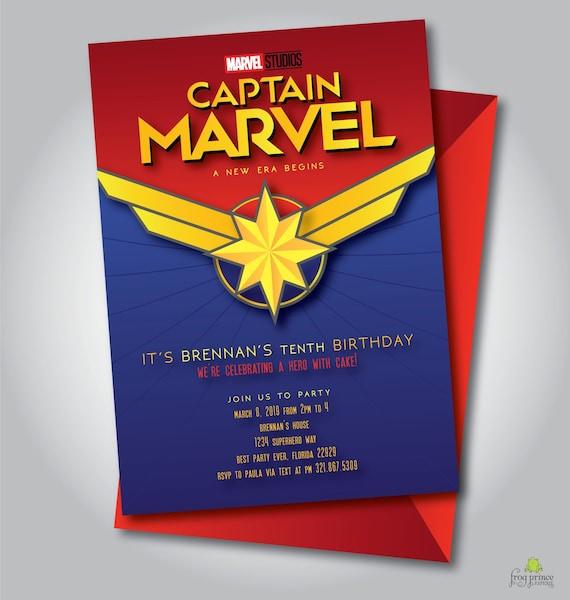 captain marvel invitation