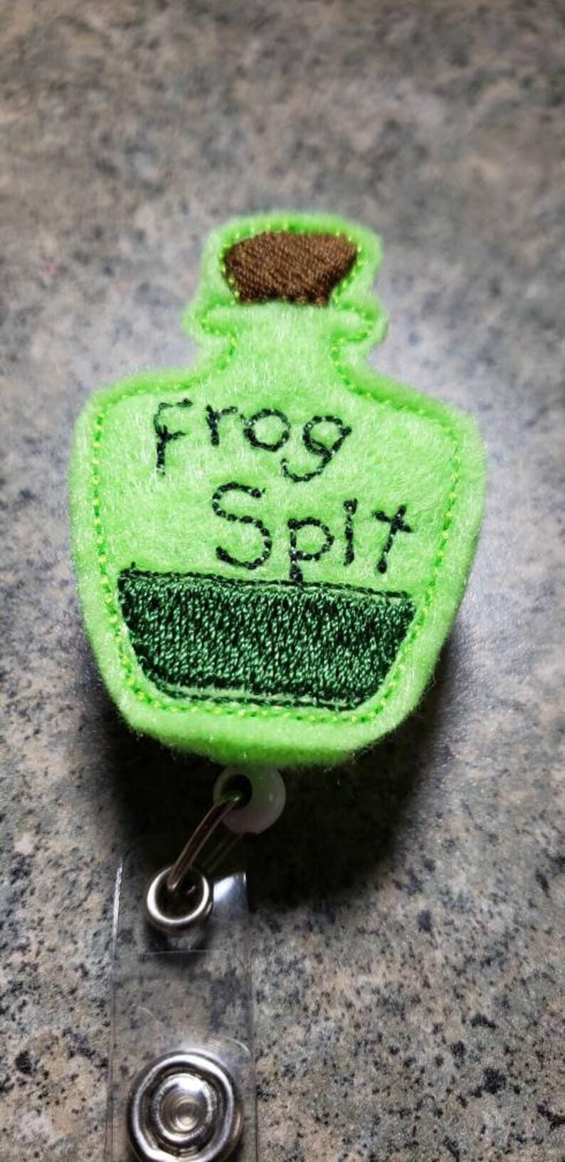 Retractable ID Badge Holder Halloween Badge Reel RN Badge Reel You Choose Reel Style Frog Spit Badge Reel ICU Nurse Badge Pull
